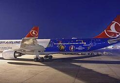 Türk Hava Yollarının EURO 2016 özel uçağı ilk uçuşunu yaptı