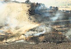 Sabote edilen boru hattı alev alev yandı