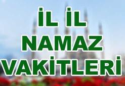İl il Namaz vakitleri 9 Ocak Salı İstanbul Namaz saatleri...