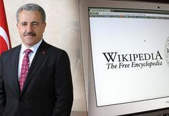 Bakan Arslandan Wikipedia açıklaması