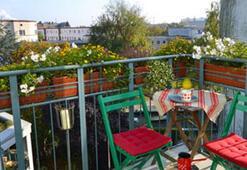 Balkonlara bahar geldi