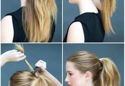 En pratik ve 5 dakikada yapılabilecek saç modelleri