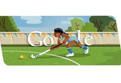 Londra 2012 hokey için Google Doodle