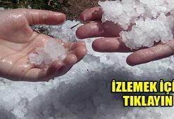 Edirnede dolu yağdı, İstanbul alarmda