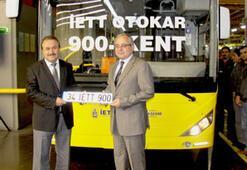 Otokar İETT'nin 900. aracını üretti
