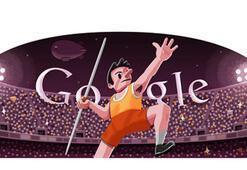 Londra 2012 cirit atma için özel Google Doodle