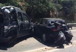 Üsküdarda freni boşalan otobüs 10 araca çarptı: 11 yaralı