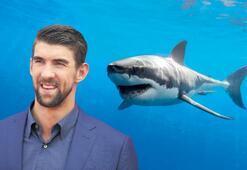Simülasyon köpekbalığıyla  Phelps'in yarışına tepki