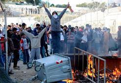 Göçmen kampında çatışma çıktı