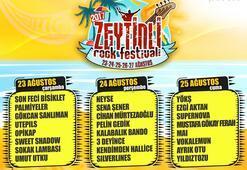 Zeytinli Festivalinde yüzde yüz müzik sahnesi dopdolu