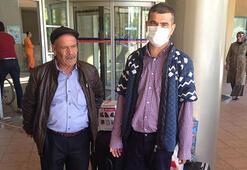 Çift kol nakli yapılan Mustafa Sağır, memleketine gitti