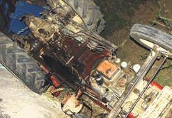 Aşırı hız traktör  devirdi: 1 ölü