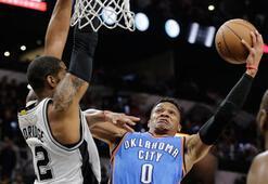 Thunder, Spursu deplasmanda yenerek seride öne geçti