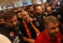 G.Sarayın yeni transferi Feghouli İstanbula geldi