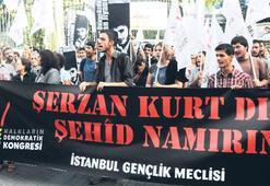 Beyoğlu'nda Şerzan Kurt eylemi