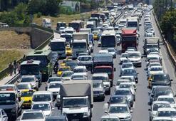 Trafik yoğunluğu rekoru İstanbulda