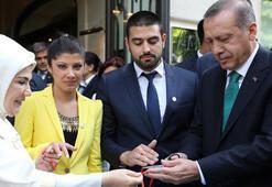Erdoğan Fransada yüzük taktı