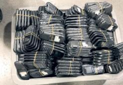 Bin 585 adet kaçak telefonla yakalandı