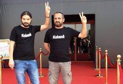 Altın Portakal Film Festivalinde Kobaniye destek eylemi