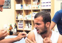 Efelere grip aşısı yapıldı