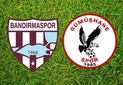 Bandırmaspor Gümüşhanespor maç sonucu: 2-0