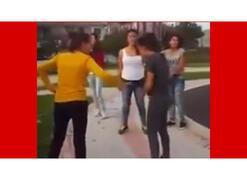 Silivri'de kız kavgası görüntüleri şoke etti