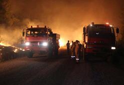 Sınırda yangın tahliyesi