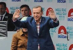 Erdoğanın ilk mitingi Samsunda
