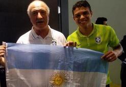 Scolari ve Silva, Arjantin bayrağı açtı
