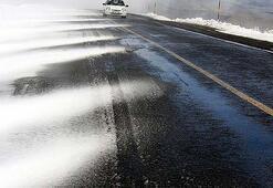 Sürücülere siyah buz uyarısı