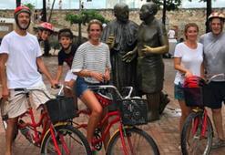 Kolombiya tatilinde bisiklet turu