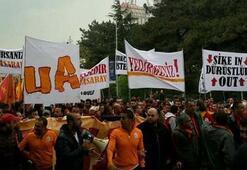 Galatasaray taraftarı TFFye yürüdü
