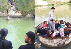 Suriyeliler Nehri geçip Hatay'a pazara geliyor
