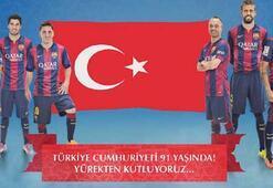 Barcelona ve Schalkeden Cumhuriyet Bayramı mesajı