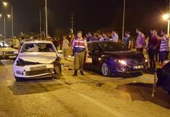 Düzce'de zincirleme kazada 8 kişi yaralandı