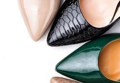 Sivri burunlu stilettolarıyla göz alıcı adımlar