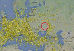 Doğu Ukrayna hava sahası radarda bom boş