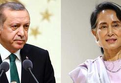 Cumhurbaşkanı Erdoğan Myanmar lideri ile görüştü