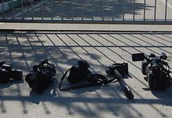 Bursaspor idmanını takip eden gazetecilerden protesto