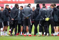 Beşiktaş taktik ve kondisyon ağırlıklı çalıştı