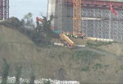 3. köprü inşaatında korkutan kaza