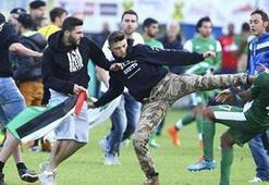 İsrail takımına Filistin tekmesi