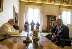 Ürdün Kralı II. Abdullah, Papa Francis ile bir araya geldi