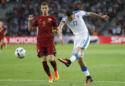 Rusya - Slovakya maçından kareler