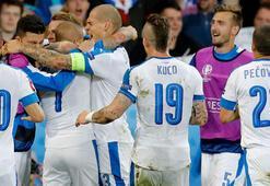 Slovakya, Rusyayı ilk yarıda yıktı