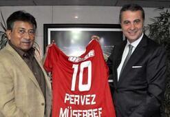 Pervez Müşerref'ten Beşiktaş Kulübü'ne ziyaret