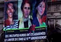 Öldürülen 3 PKKlı kadın için posterli eylem