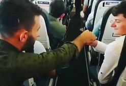 Uçakta pilota bilet parası gönderen Karadenizlilerfenomen oldu