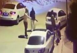 Ankaradaki cinayet anı kamerada