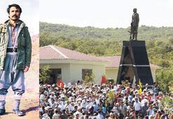 PKK mezarlığına heykel diktiler